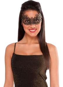 Lace Mask Gold For Masquerade