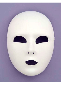 Masquerade Full Face White Mask