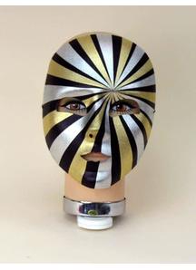Masquerade Psycho Full Mask Blck Gold Slv