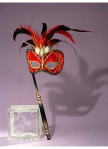 Masquerade Venetian Mask Red