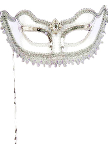 Masquerade White Parade Mask