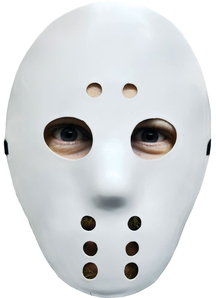 Scary Hockey Mask White