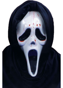 Scream Mask W Blood And Pump For Adults