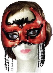 She Devil Half Mask For Halloween