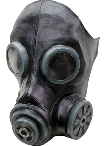 Smoke Black Latex Mask For Halloween