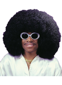Super Fro Black Wig For Adults