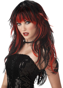 Tempting Tresses Red Black Wig For Women
