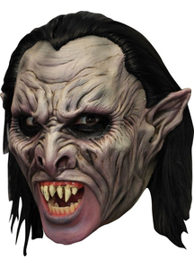 Vamp Dlx Chinless Latex Mask For Halloween