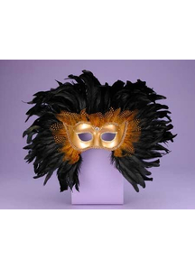 Venetian Black Mask For Adults