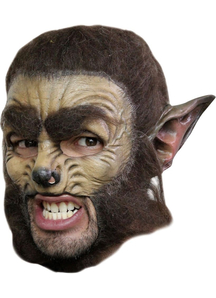 Wolf Dlx Chinless Adult Mask For Halloween