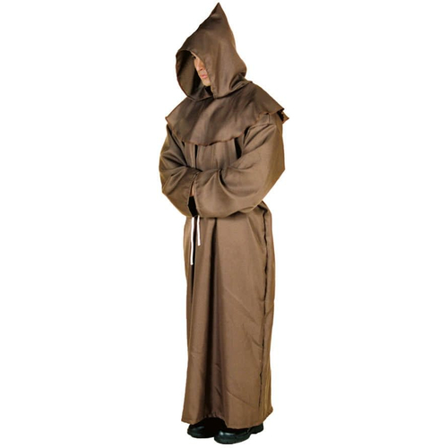 Brown Monk Robe Adult