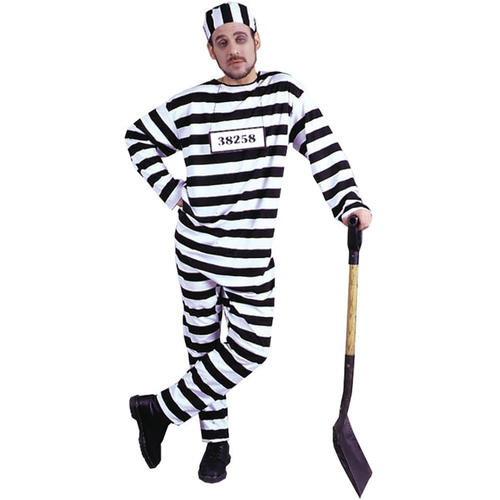 Convict Adult Plus Size Costume