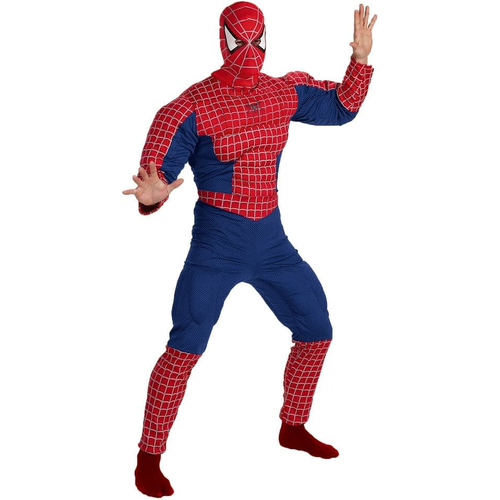 Deluxe Spiderman Muscle Adult Costume