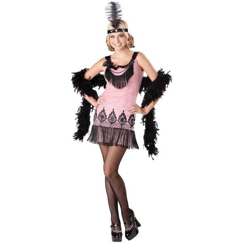 Pink Flapper Teen Costume