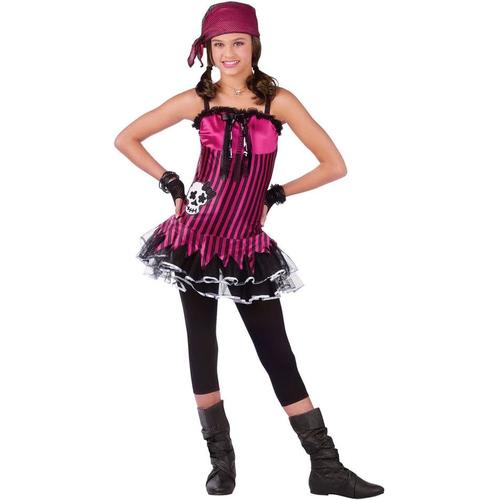 Pink Skull Pirate Teen Costume