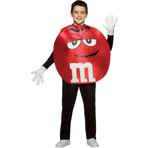 Red M&M'S Teen Poncho