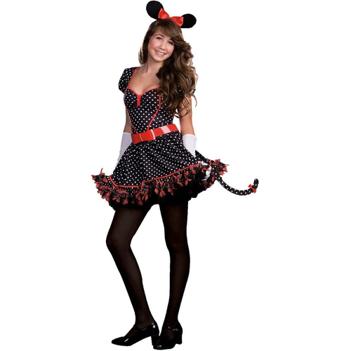Red Minnie Mouse Teen Costume