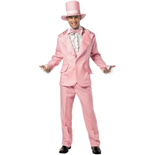70' S Man Adult Costume Pink