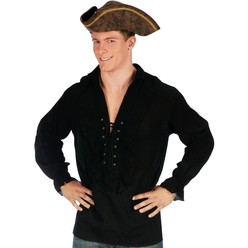 Pirate Shirt Black Adult