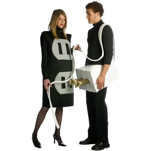 Plug And Socket Couple Plus Size Costume