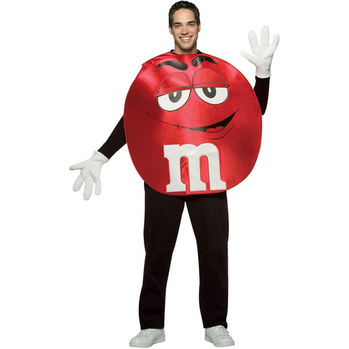 Red M&M'S Adult Poncho