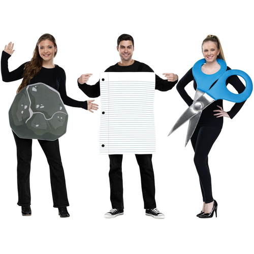 Rock Paper Scissirs Adult Costume