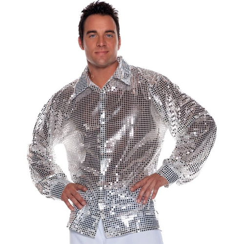Sequin Silver Adult Shirt