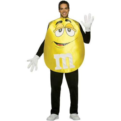 Yellow M&M'S Poncho Adult