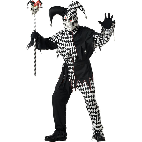 Creepy Jester Adult Costume