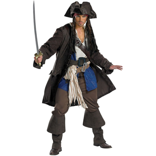 Deluxe Captain Jack Sparrow Adult Costume