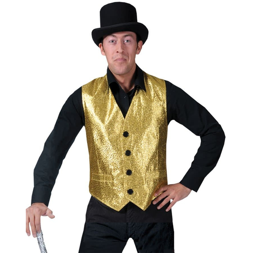 Disco Vest Gold For Adults