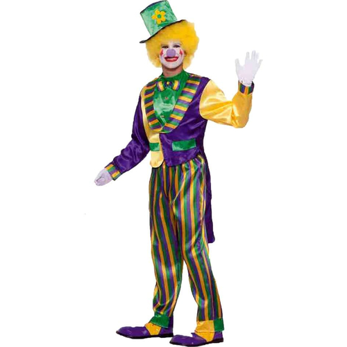 Mardi Gras Clown Adult Costume