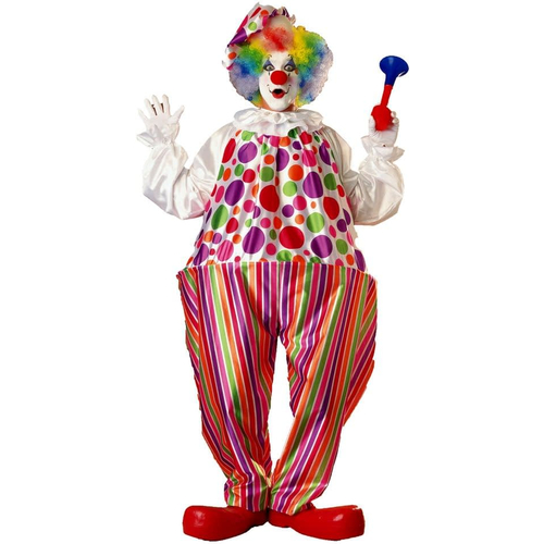 Multicolor Clown Adult Costume