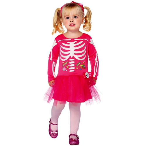 Pink Skeleton Toddler Costume