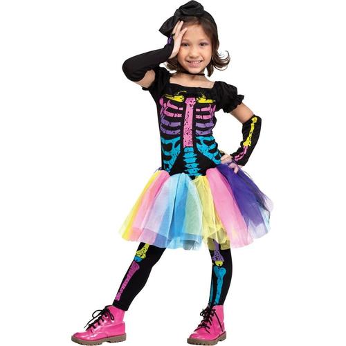 Punky Skeleton Toddler Costume