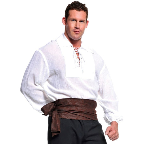 White Pirate Shirt Adult