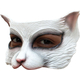 Kitty White Latex Half Mask For Adults