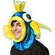 Fish Open Face Headpiece Blue