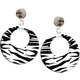 Earrings Zebra White