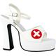 Shoe Nurse White Sexy Sz 7