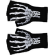 Gloves Short Fingerless W Skel