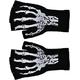 Gloves Short Fingerless W Skel