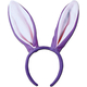 Bunny Ears Lavender/White