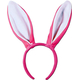 Bunny Ears Pink W White Lining