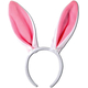 Bunny Ears White W Pink Lining