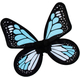 Wings Butterfly Satin Ch Blue/