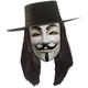 V For Vendetta Black Wig